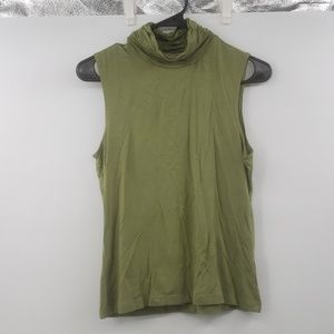 Jillian Nicole green sleeveless top sz medium